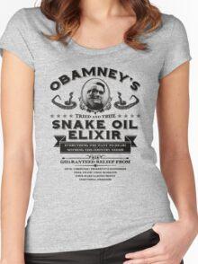 Obamney's Snake Oil Elixir Women's Fitted Scoop T-Shirt