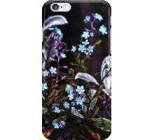 Forget me not flower plant iPhone Case/Skin