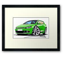 VW Scirocco (Mk3) Green Framed Print