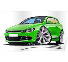 VW Scirocco (Mk3) Green Poster
