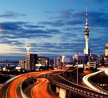 Auckland by night by Sara Lejon