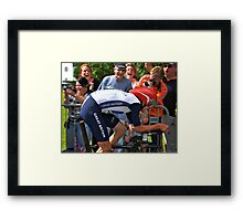Wiggins going for his Olympic Gold  Framed Print