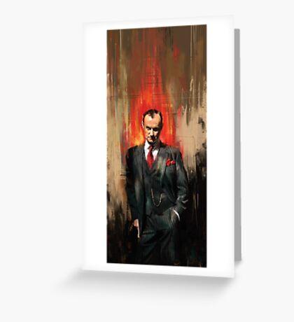 Mycroft Holmes Greeting Card