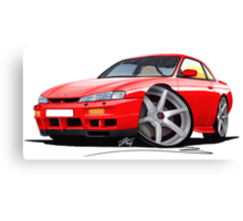 Nissan 200SX S14 Red Canvas Print