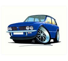 Triumph Dolomite Sprint Blue Art Print
