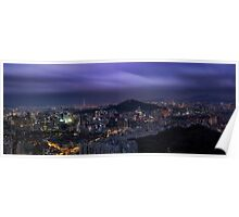 Seoul Panorama Poster