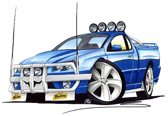 Ford Falcon XR8 Ute Blue by Richard Yeomans
