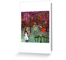 A Mad Hatter's Tea Party! Greeting Card