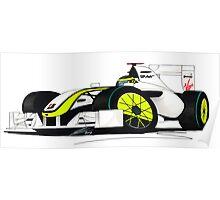 F1 2009 - BrawnGP - Jenson Button Poster