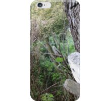 Fence and tree 1 iPhone Case/Skin