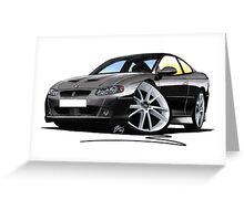 Vauxhall Monaro VXR Black Greeting Card