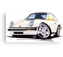 Porsche 911 White Canvas Print