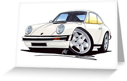 Porsche 911 White by Richard Yeomans