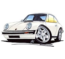 Porsche 911 White Photographic Print
