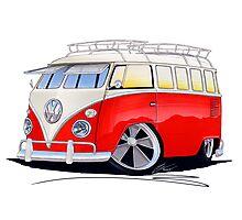 VW Splitty (15 Window) Camper (A) Photographic Print