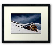 Ski Chalet  Framed Print