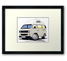 VW T25 / T3 (High Top) White Framed Print