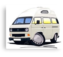 VW T25 / T3 (High Top) White Canvas Print