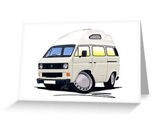 VW T25 / T3 (High Top) White Greeting Card