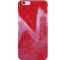 Red zig-zag iPhone Case/Skin