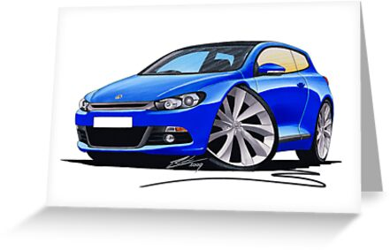 VW Scirocco (Mk3) Blue by Richard Yeomans
