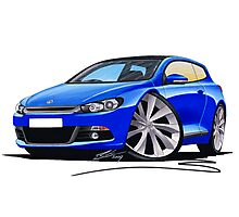 VW Scirocco (Mk3) Blue Photographic Print