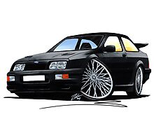 Ford Sierra Cosworth Black Photographic Print