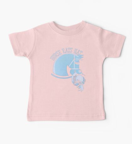 Horse Eats Hat (Blue) Vintage Poster Baby Tee