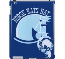 Horse Eats Hat (Blue) iPad Case/Skin