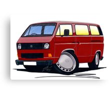 VW T25 / T3 D.Red Canvas Print