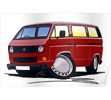 VW T25 / T3 D.Red Poster