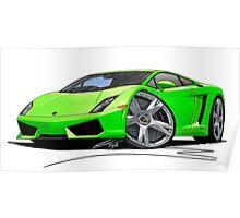 Lamborghini LP560/4 Lime Poster