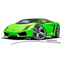 Lamborghini LP560/4 Lime Photographic Print