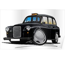 London Fairway Taxi Black Poster