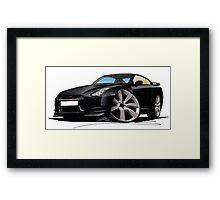 Nissan GT-R Black Framed Print