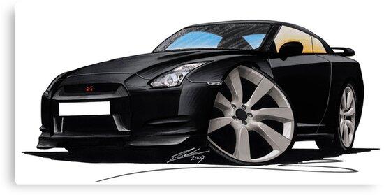 Nissan GT-R Black by Richard Yeomans