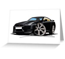 Nissan GT-R Black Greeting Card