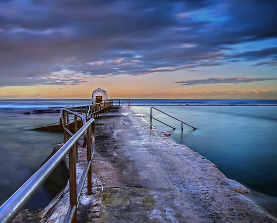 The Pump House, Merewether Ocean Baths by bazcelt