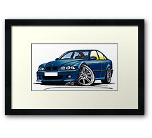 BMW M5 (E39) Blue Framed Print