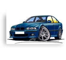 BMW M5 (E39) Blue Canvas Print
