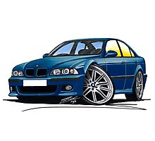BMW M5 (E39) Blue Photographic Print