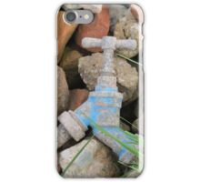 Old tap and rubble. iPhone Case/Skin
