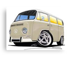 VW Bay Window Camper Van B Cream Canvas Print
