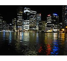 Brisbane by night Photographic Print