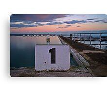 No. 1, Merewether Ocean Baths Canvas Print