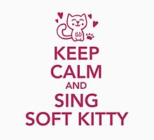 Keep calm and sing soft Kitty Womens Fitted T-Shirt