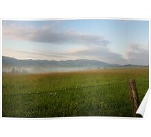 Fenced In, Cades Cove, Smoky Mountains National Park Poster