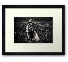 Herb Picker, Australia Framed Print