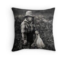 Herb Picker, Australia Throw Pillow