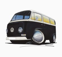 VW Bay Window Camper Van Black by Richard Yeomans